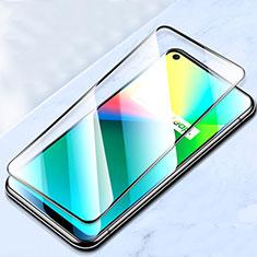 Realme C17用強化ガラス フル液晶保護フィルム Realme ブラック