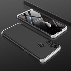 Realme C3用ハードケース プラスチック 質感もマット 前面と背面 360度 フルカバー Realme シルバー・ブラック