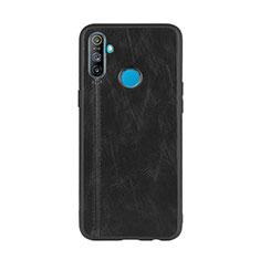 Realme C3用ケース 高級感 手触り良いレザー柄 S01 Realme ブラック