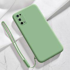 Realme Q2 Pro 5G用360度 フルカバー極薄ソフトケース シリコンケース 耐衝撃 全面保護 バンパー Realme ライトグリーン