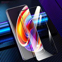 Realme Q2 Pro 5G用強化ガラス フル液晶保護フィルム F02 Realme ブラック