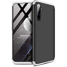 Realme X2用ハードケース プラスチック 質感もマット 前面と背面 360度 フルカバー Realme シルバー・ブラック