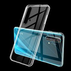 Realme X50 5G用極薄ソフトケース シリコンケース 耐衝撃 全面保護 クリア透明 H01 Realme クリア
