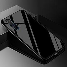 Realme X50 5G用ハイブリットバンパーケース プラスチック 鏡面 カバー M01 Realme ブラック
