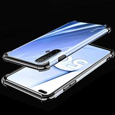 Realme X50 5G用極薄ソフトケース シリコンケース 耐衝撃 全面保護 クリア透明 H02 Realme ブラック