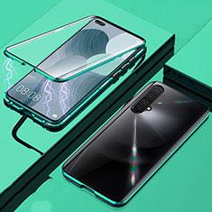 Realme X50 5G用ケース 高級感 手触り良い アルミメタル 製の金属製 360度 フルカバーバンパー 鏡面 カバー Realme グリーン