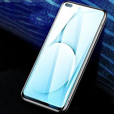 Realme X50 5G用強化ガラス フル液晶保護フィルム F02 Realme ブラック