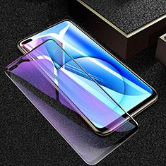 Realme X50 5G用強化ガラス フル液晶保護フィルム アンチグレア ブルーライト F02 Realme ブラック