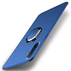 Realme X50 Pro 5G用ハードケース プラスチック 質感もマット アンド指輪 マグネット式 P01 Realme ネイビー