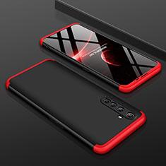 Realme X50 Pro 5G用ハードケース プラスチック 質感もマット 前面と背面 360度 フルカバー P01 Realme レッド・ブラック