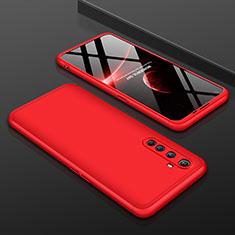Realme X50 Pro 5G用ハードケース プラスチック 質感もマット 前面と背面 360度 フルカバー P01 Realme レッド
