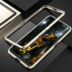 Realme X50 Pro 5G用ケース 高級感 手触り良い アルミメタル 製の金属製 バンパー カバー T01 Realme ゴールド