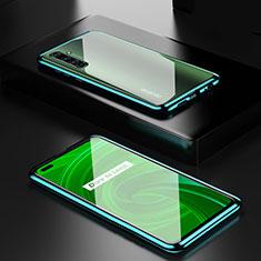 Realme X50 Pro 5G用ケース 高級感 手触り良い アルミメタル 製の金属製 360度 フルカバーバンパー 鏡面 カバー Realme グリーン