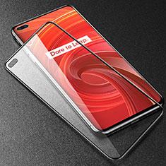 Realme X50 Pro 5G用強化ガラス フル液晶保護フィルム アンチグレア ブルーライト F02 Realme ブラック