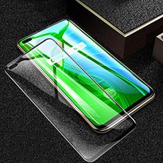 Realme X50 Pro 5G用強化ガラス フル液晶保護フィルム F03 Realme ブラック