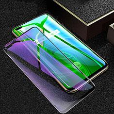 Realme X50 Pro 5G用強化ガラス フル液晶保護フィルム アンチグレア ブルーライト Realme ブラック