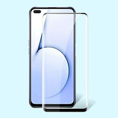 Realme X50m 5G用強化ガラス フル液晶保護フィルム Realme ブラック