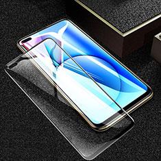 Realme X50m 5G用強化ガラス フル液晶保護フィルム F03 Realme ブラック