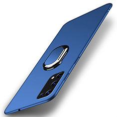 Realme X7 Pro 5G用ハードケース プラスチック 質感もマット アンド指輪 マグネット式 A01 Realme ネイビー