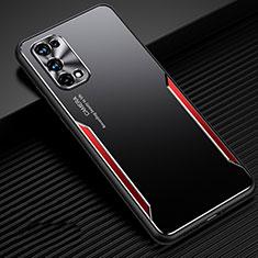 Realme X7 Pro 5G用ケース 高級感 手触り良い アルミメタル 製の金属製 カバー M01 Realme レッド