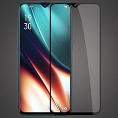 Realme XT用強化ガラス フル液晶保護フィルム F04 Realme ブラック
