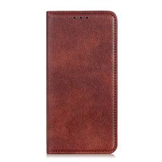 Samsung Galaxy A01 Core用手帳型 レザーケース スタンド カバー L01 サムスン ブラウン