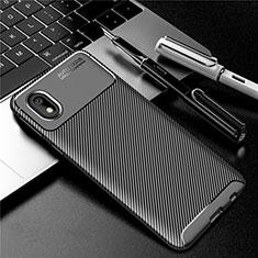 Samsung Galaxy A01 Core用シリコンケース ソフトタッチラバー ツイル カバー S01 サムスン ブラック