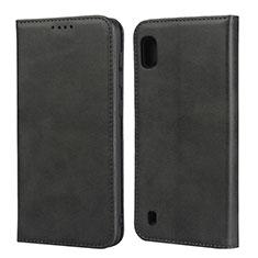 Samsung Galaxy A10用手帳型 レザーケース スタンド カバー L01 サムスン ブラック