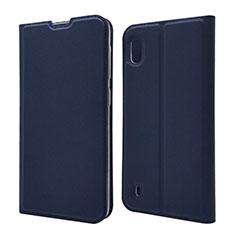 Samsung Galaxy A10用手帳型 レザーケース スタンド カバー U01 サムスン ネイビー