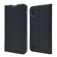 Samsung Galaxy A10用手帳型 レザーケース スタンド カバー U01 サムスン ブラック