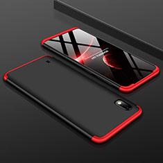 Samsung Galaxy A10用ハードケース プラスチック 質感もマット 前面と背面 360度 フルカバー サムスン レッド・ブラック