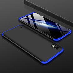 Samsung Galaxy A10用ハードケース プラスチック 質感もマット 前面と背面 360度 フルカバー サムスン ネイビー・ブラック