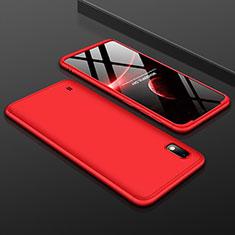 Samsung Galaxy A10用ハードケース プラスチック 質感もマット 前面と背面 360度 フルカバー サムスン レッド
