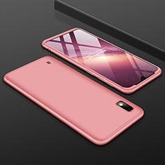 Samsung Galaxy A10用ハードケース プラスチック 質感もマット 前面と背面 360度 フルカバー サムスン ローズゴールド