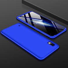 Samsung Galaxy A10用ハードケース プラスチック 質感もマット 前面と背面 360度 フルカバー サムスン ネイビー