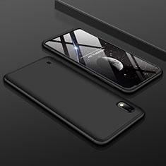 Samsung Galaxy A10用ハードケース プラスチック 質感もマット 前面と背面 360度 フルカバー サムスン ブラック