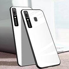 Samsung Galaxy A20e用ハイブリットバンパーケース プラスチック 鏡面 カバー サムスン ホワイト