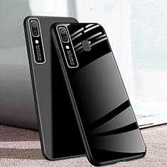 Samsung Galaxy A20e用ハイブリットバンパーケース プラスチック 鏡面 カバー サムスン ブラック