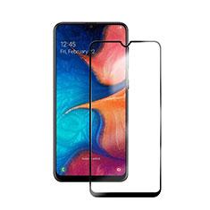 Samsung Galaxy A20e用強化ガラス フル液晶保護フィルム サムスン ブラック