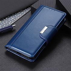 Samsung Galaxy A21s用手帳型 レザーケース スタンド カバー L05 サムスン ネイビー