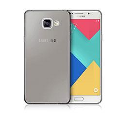 Samsung Galaxy A3 (2016) SM-A310F用極薄ソフトケース シリコンケース 耐衝撃 全面保護 クリア透明 サムスン グレー