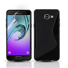 Samsung Galaxy A3 (2016) SM-A310F用ソフトケース S ライン サムスン ブラック