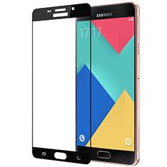 Samsung Galaxy A3 (2016) SM-A310F用強化ガラス フル液晶保護フィルム サムスン ブラック