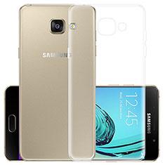 Samsung Galaxy A3 (2017) SM-A320F用極薄ソフトケース シリコンケース 耐衝撃 全面保護 クリア透明 カバー サムスン クリア