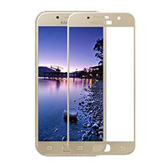 Samsung Galaxy A3 (2017) SM-A320F用強化ガラス フル液晶保護フィルム F05 サムスン ゴールド