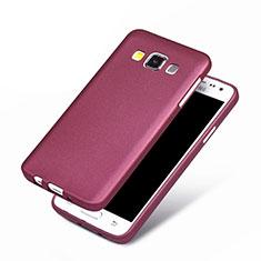 Samsung Galaxy A3 SM-300F用極薄ソフトケース シリコンケース 耐衝撃 全面保護 サムスン パープル