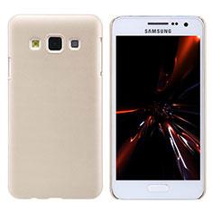 Samsung Galaxy A3 SM-300F用ハードケース プラスチック 質感もマット M02 サムスン ゴールド