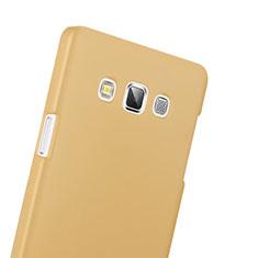 Samsung Galaxy A3 SM-300F用ハードケース プラスチック 質感もマット サムスン ゴールド