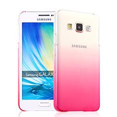 Samsung Galaxy A3 SM-300F用ハードケース グラデーション 勾配色 クリア透明 サムスン ピンク