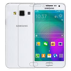 Samsung Galaxy A3 SM-300F用強化ガラス 液晶保護フィルム T01 サムスン クリア